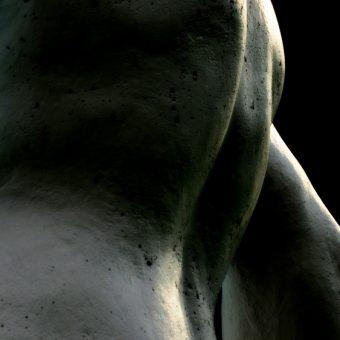 contemporary fine art photography, communication, self love, create a safe home for your soul, male torso, sculpture of a male torso,