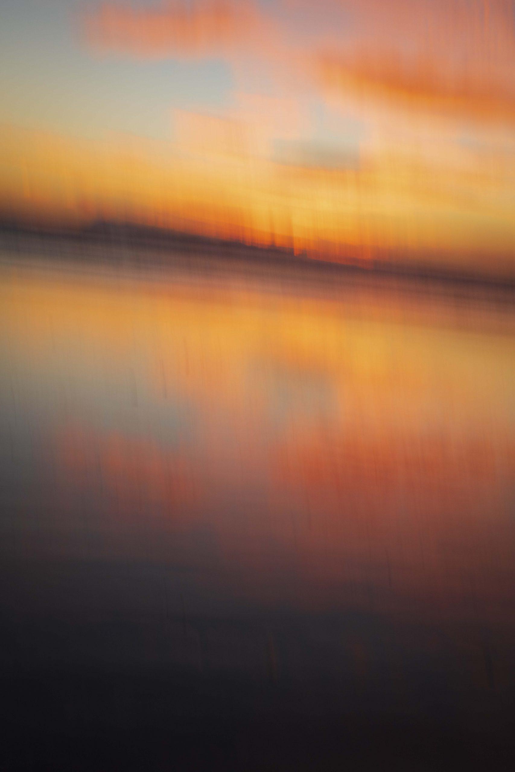 sunset, William Turner, abstract, landscape, ocean, beach, orange,