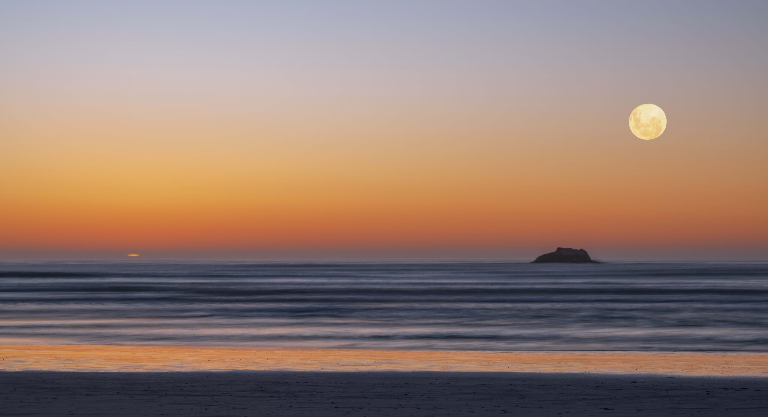 fine art photography, sunset, photography Western Cape, landscape, ocean, sun and the moon, limited edition prints, long exposure photography,