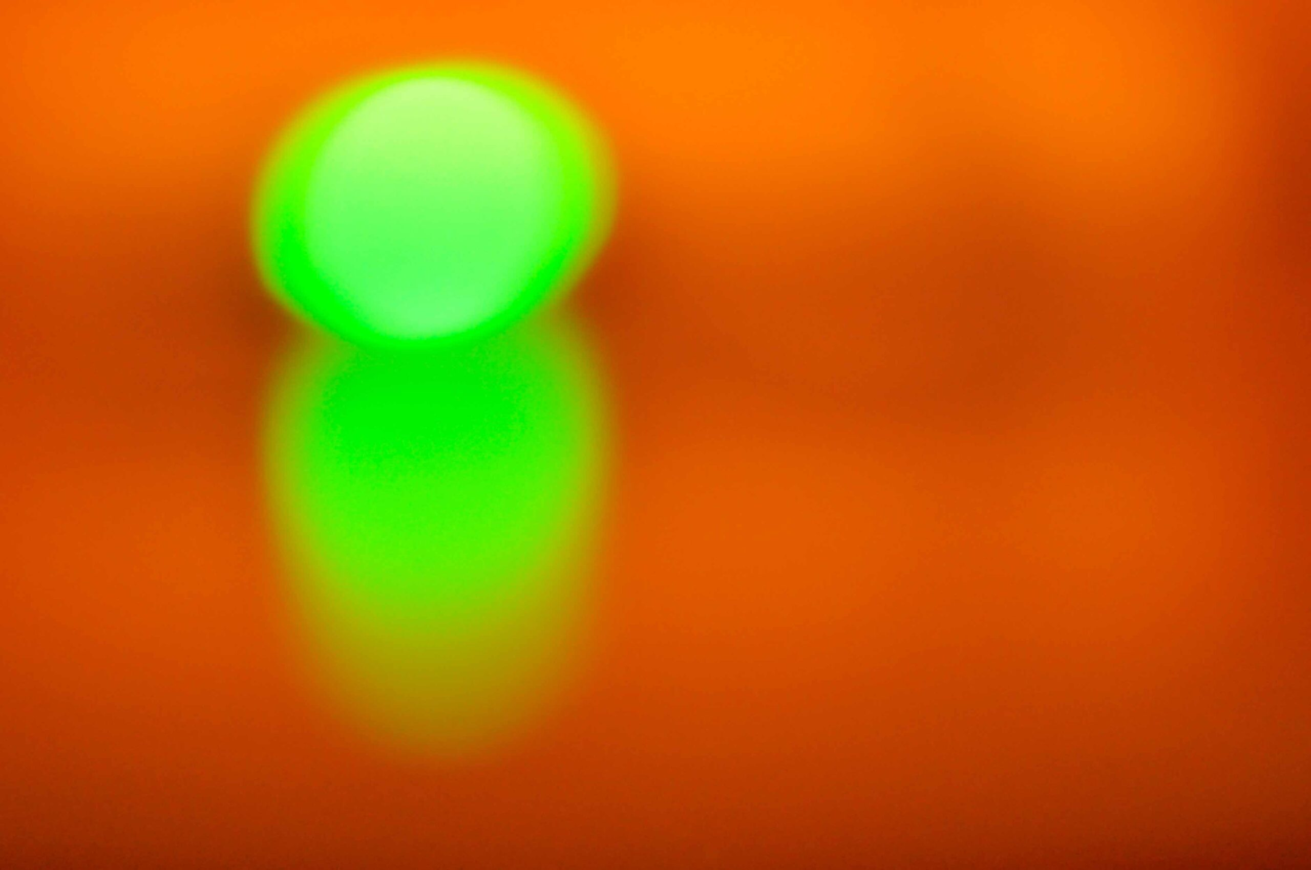 abstract photography, painting with light, orange and spring green colours, your future is taken care of, art for your home and office